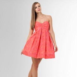 Jill Stuart Strapless Pink Prom Dress